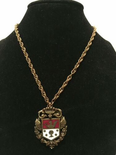 Vintage Coro Heraldic Coat of Arms Shield Knight B