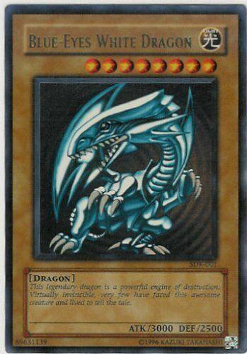 Ultra Rare LP Blue-Eyes White Dragon Yugioh Unlimited Edition Lig SDK-001