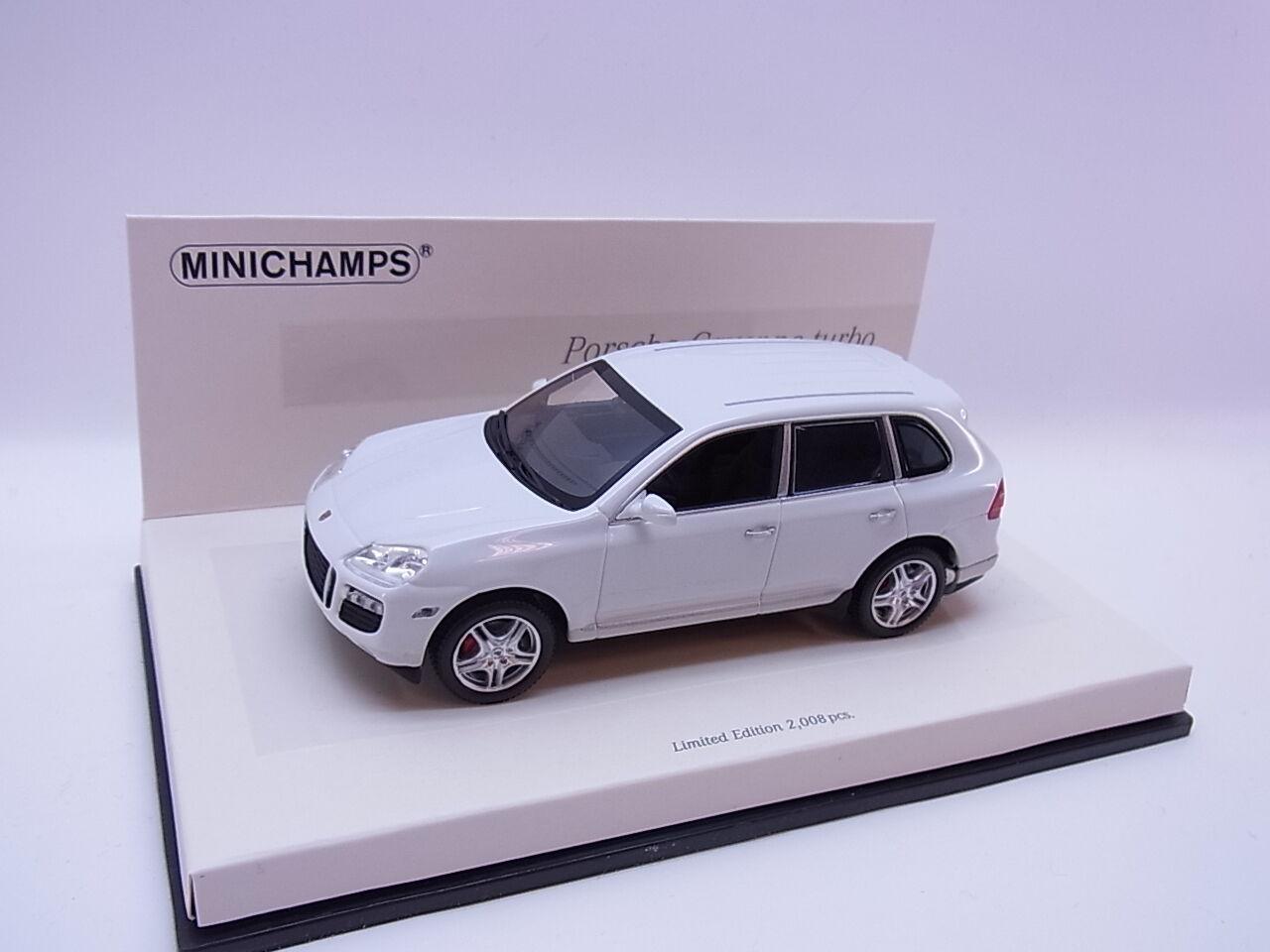 Lot 26158   MINICHAMPS 436066270 Porsche Cayenne Turbo 2007 Voiture Miniature 1 43 neuf dans sa boîte