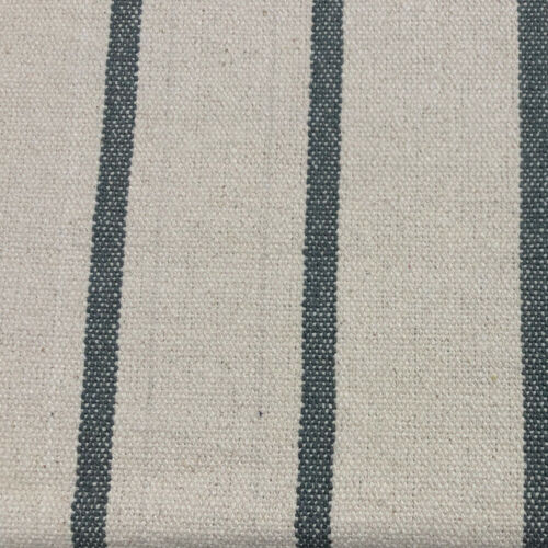 Austin Cubierta a rayas en azul marino Cortina de tapicería de algodón durablefrancés Tela