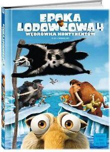 EPOKA-LODOWCOWA-4-W-DRoWKA-KONTYNENToW-ICE-AGE-4-BOOKLET-DVD