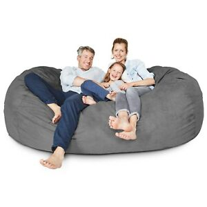 Remarkable Details About Xxl Giant Bean Bag 7Ft Lounger Loveseat Sofa Sleeper Couch Foam Filled Chair Theyellowbook Wood Chair Design Ideas Theyellowbookinfo