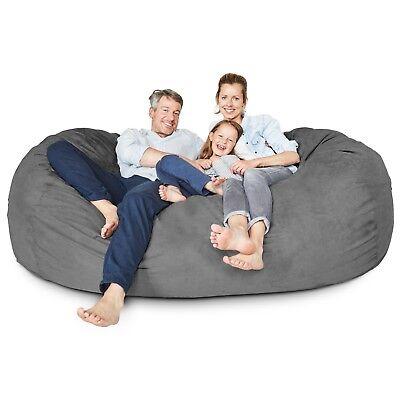 Xxl Giant Bean Bag 7ft Lounger Loveseat Sofa Sleeper