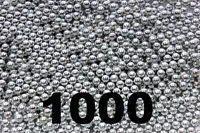 1000 Ct Silver Zinc Plated Metal Bb's 4.5mm (.177 Cal)