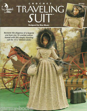 Traveling Suit Crochet Fashion Doll Dress Clothing Patterns Annie's Attic NEW