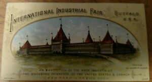 SCARCE-1888-INTERNATIONAL-INDUSTRIAL-FAIR-BREEDING-INTERESTS-BUFFALO-N-Y