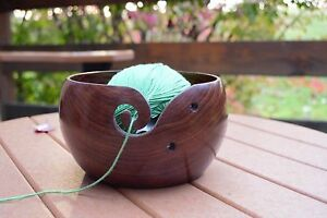"Hagestad Yarn Bowl Bundle-Wooden Large 6/""x3/"" Handmade"