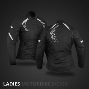 Ladies-Motorbike-Jacket-Coat-Waterproof-Women-Motorcycle-Touring-Jacket-Black