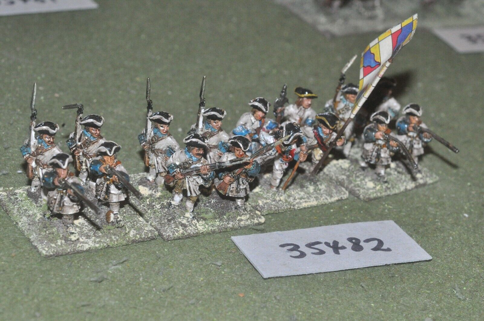 25mm marlburian   french - regiment 16 figures - inf (35482)