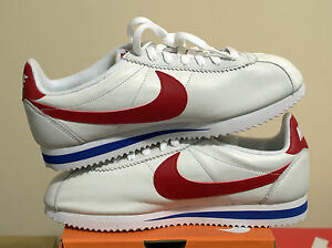 classic nike cortez white red blue