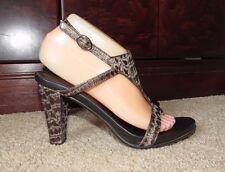 Donald J Pliner Brown Croco Print Leather Slingbacks Heels ~Sz 7 M