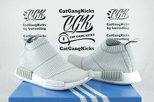 DS-Adidas-NMD-CS1-PK-City-Sock-Primeknit-S32191-White-Light-Grey-Gray-Sz-6