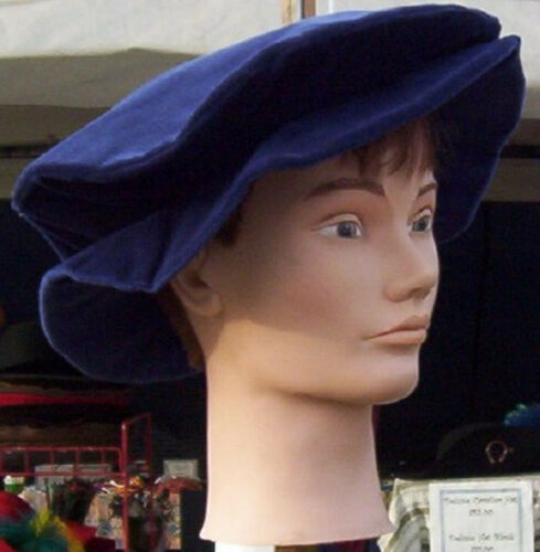 Cotton Velveteen Floppy or Flat Hat in 5 Colors /& 2 sizes