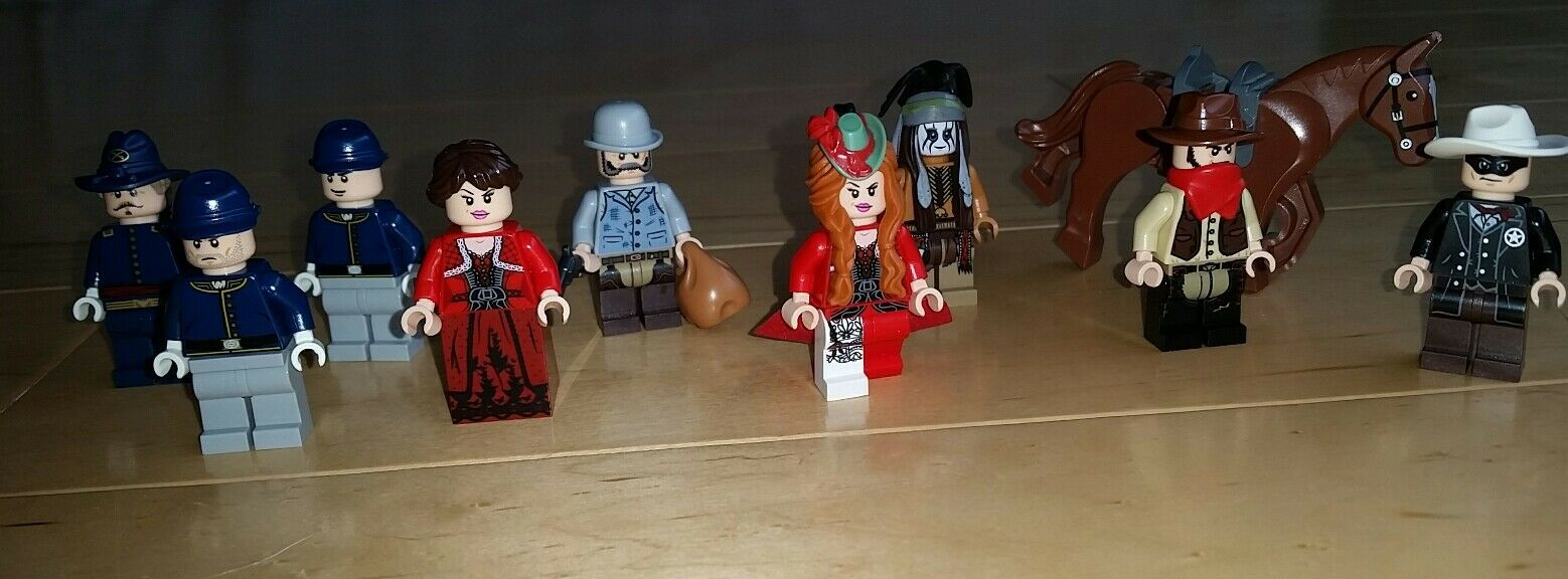Genuine Lego Lot of THE LONE RANGER minifigures rosso Harrington Rebecca Reed more