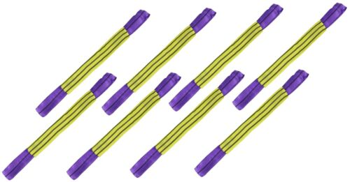 8 Car Recovery Purple Alloy Wheel Soft Link Straps