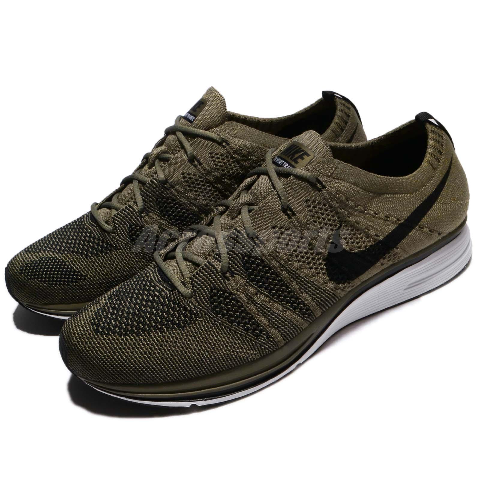 Nike Flyknit Trainer Medium Olive Green Black Men Running shoes AH8396-200