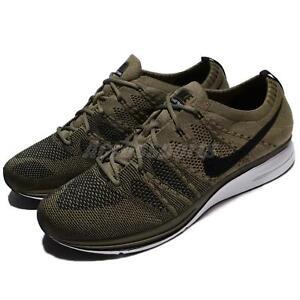 8f3a342887bf Nike Flyknit Trainer Medium Olive Green Black Men Running Shoes ...