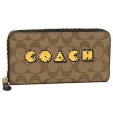 Coach Pac Man Signature C Accordion Zip Wallet Limited F75614 Khaki