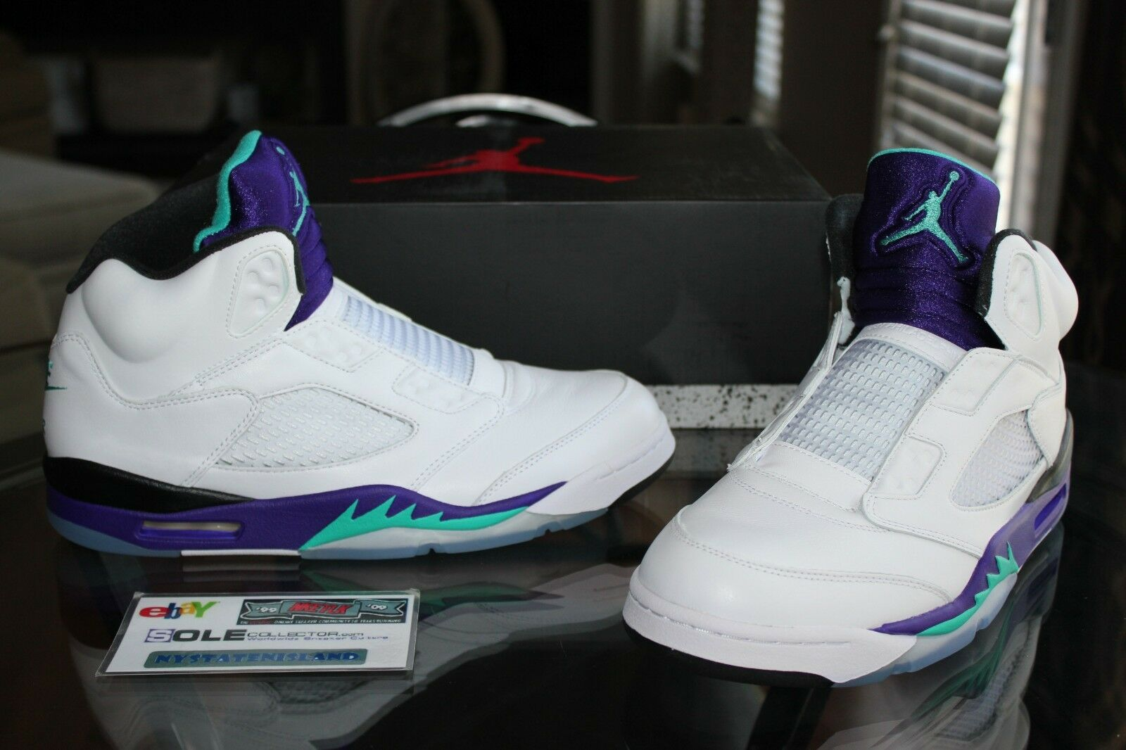 Deadstock Air Jordan Retro 5 V Grape Fresh Prince of Bel-Air Sizes 10, 10.5 & 11