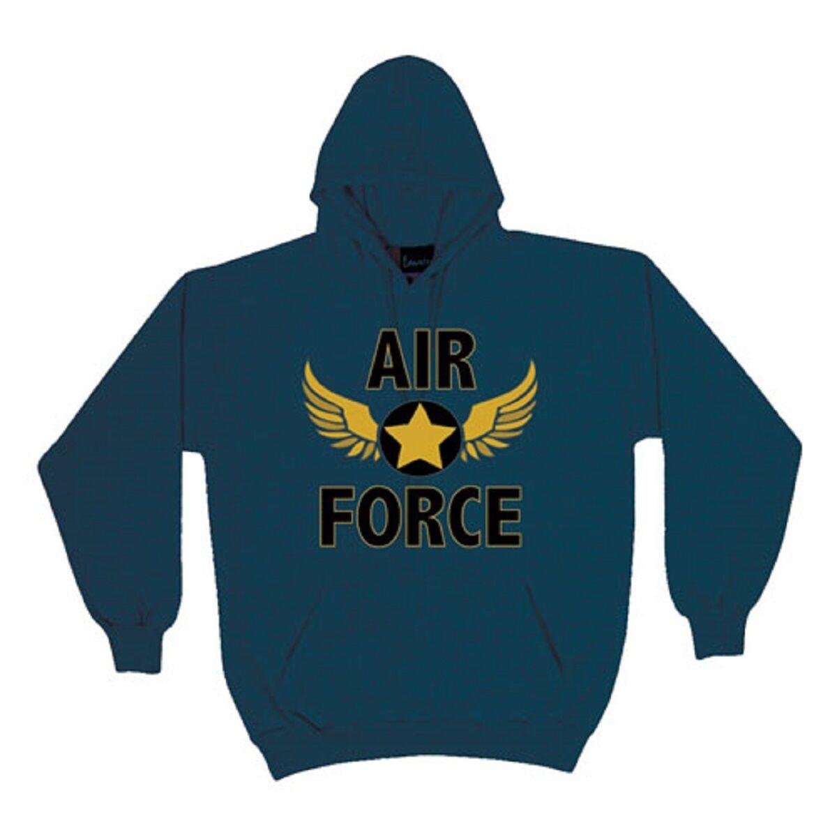 US Air Force Xtreme Endurance Hoodie Sweatshirt USAF Wings Men or Women