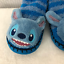 Stitch-Fuzzy-Sock-Slippers-Size-13 thumbnail 1