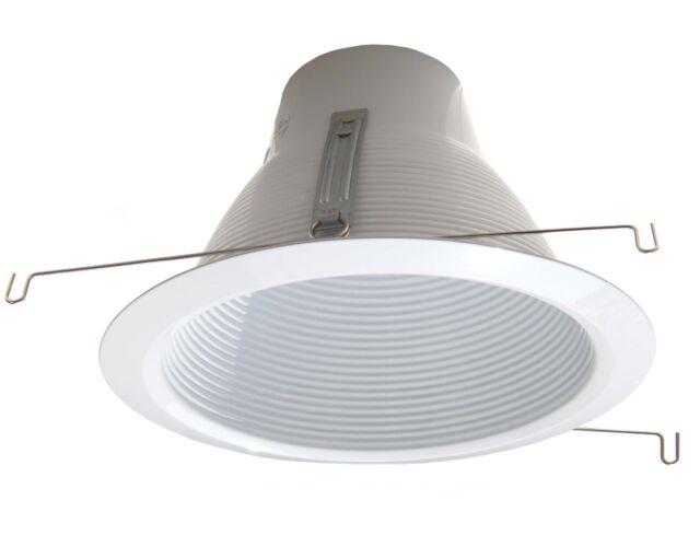 6 Self Air Baffle Trim For Line Voltage Recessed Light White