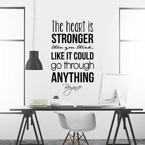 Details About Beyonce Inspirational Wall Decal Motivational Wall Art Quote  Home Office Decor