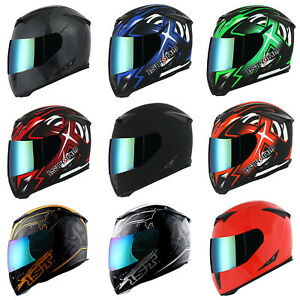 New-1Storm-Adult-Motorcycle-Full-Face-Helmet-Skull-King-One-Extra-Clear-Shield