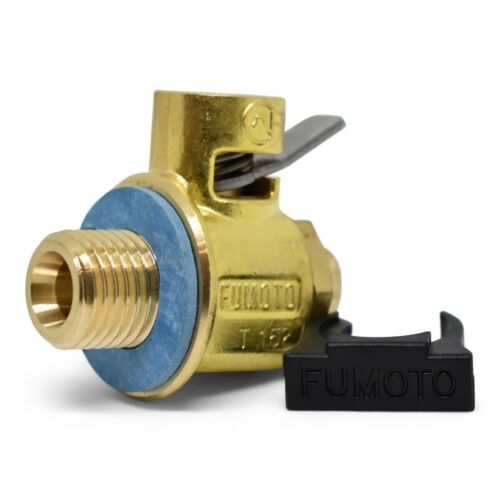 F137S SHORT NIPPLE VALVE WITH 12MM-1.75 THREADS WITH LEVER CLIP