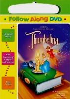 Don Bluth's Thumbelina Follow Along Read Caption Brand Dvd In Carrying Case
