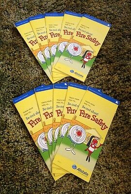 Be Cool About Fire Safety Allstate Insurance  Coloring Book 10 Pack