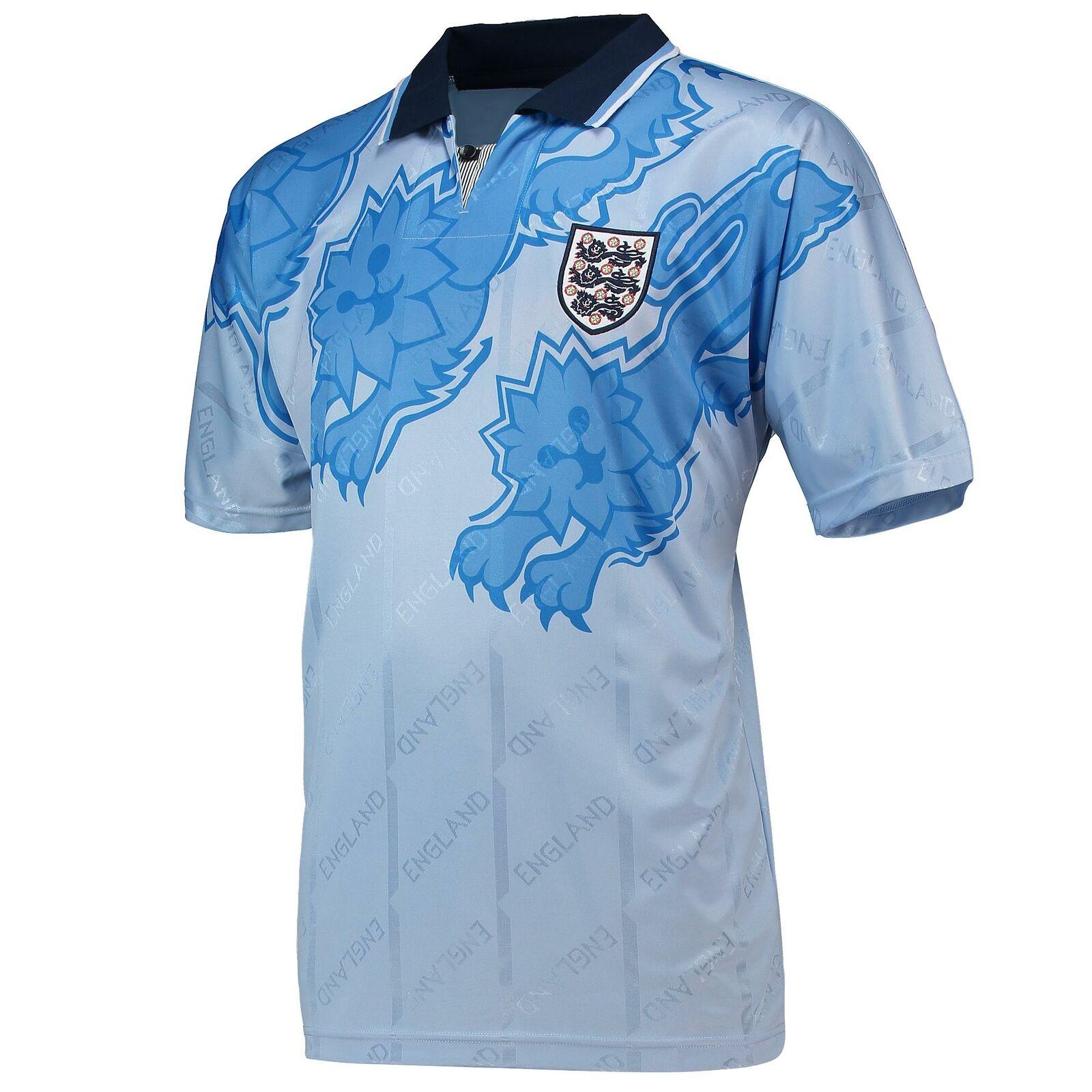 England 1992 Fußball Third Retro T Shirt Trikot Tee Top Polohemd Kurzarm Herren  | Zürich