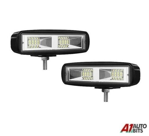 2x 6Inch 72w 12//24v Cree 24 Led Combo Work Lights Lamp Tractor Exavator Digger