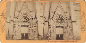Sevilla Seville 2468 Cattedrale Spagna Foto J.Andrieu Stereo Vintage c1870
