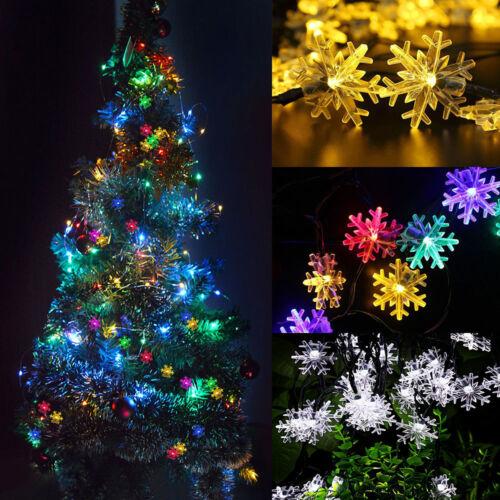 200 LED Solar Lichter Kette Blumen Weihnachten Außenbeleuchtung Party Garten Dek