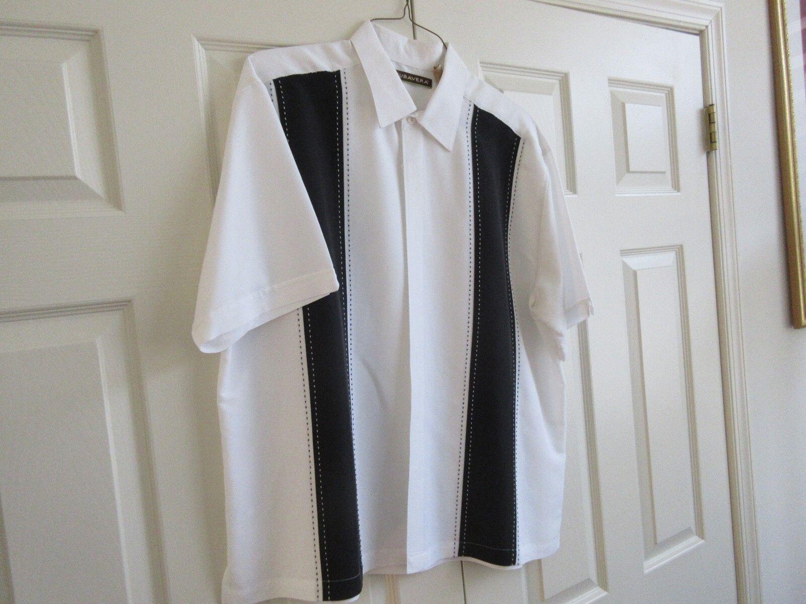 Cubavera , Size XL , Men's Short Sleeve Shirt , Unique