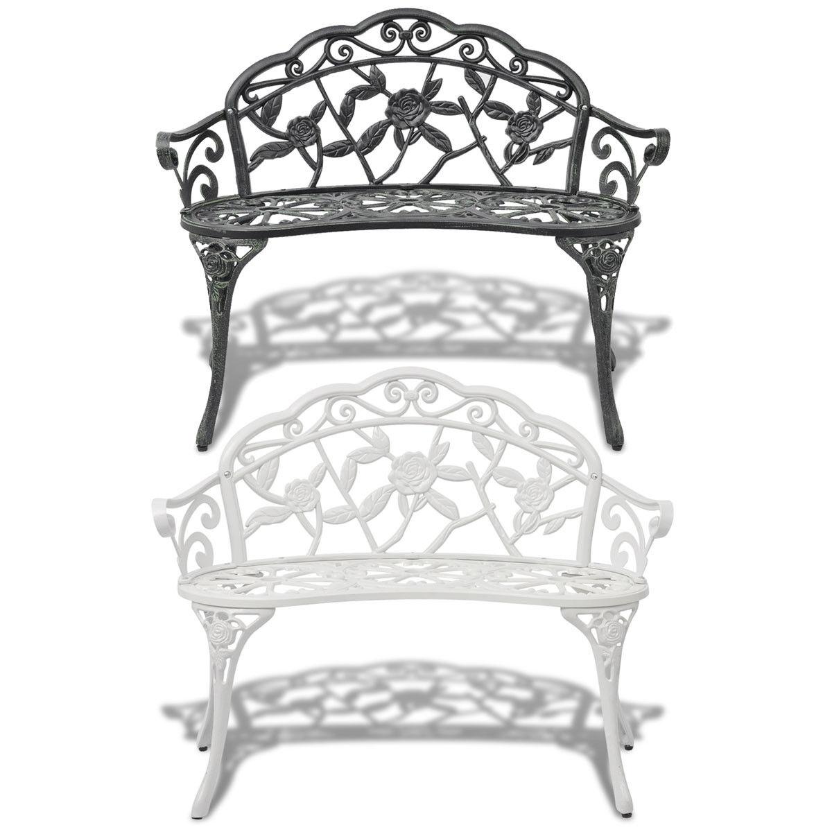 New Garden Bench Chair Porch Park Aluminum Outdoor Antique S