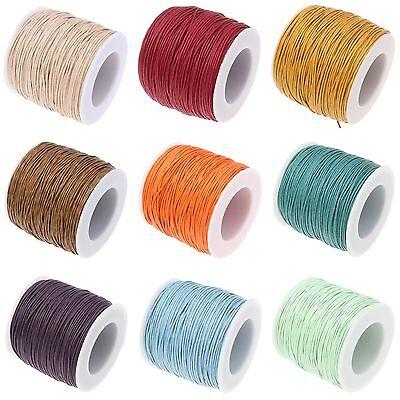 CHOIX 1 cartes macrame bracelet shamballa FIL CIRE corde cotton 1mm- bijoux
