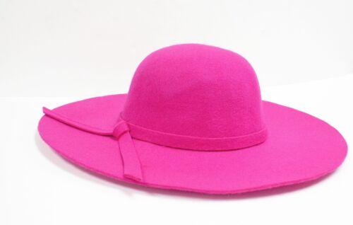 100/% Real Wool Vintage Hat Women/'s Wide Floppy Brim 5 Color Summer /& Winter