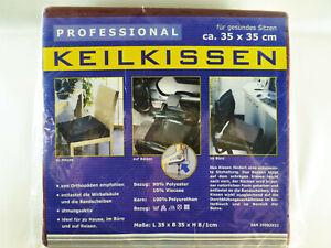 Keilkissen-Sitzkeilkissen-dunkelrot-35-x-35-cm-fuer-Buero-und-Auto