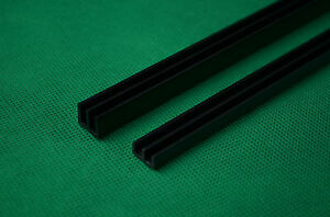 CLEARANCE - JOB LOT - 10 SETS of 4mm Black Runners vivarium/cabinet