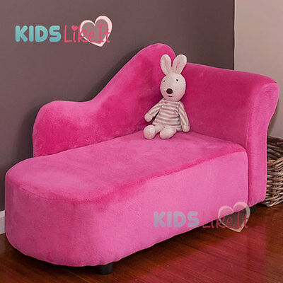 NEW KIDS Girls HOT PINK Timber WOODEN Princess SOFA / DAY COUCH / CHAISE LOUNGE