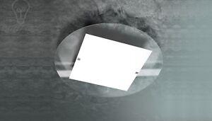 Plafoniere Bagno Particolari : Plafoniera lampada bagno cucina vetro trasparente design moderno