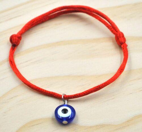 Pulsera unisex amuleto mal de ojo roja regulable nueva hamsa amuleto turco nazar