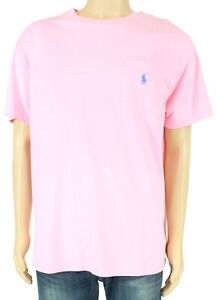 Polo-Ralph-Lauren-Mens-T-Shirt-Pink-Size-XL-Classic-Fit-Pocket-Tee-39-160
