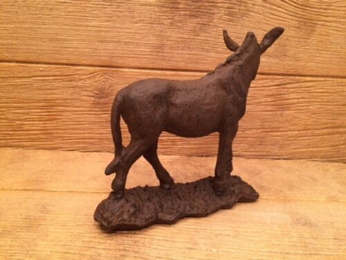 """Large Cast Iron Donkey Figure Door Stop 9 1//2/"""" Tall 10/"""" wide 0170-04664"""
