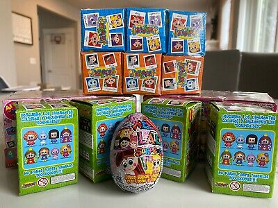 Set Of 6 Distroller Nerlie Webolate Surprise Chocolate Egg /& Figurine Easter