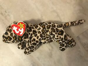 6c45f22fb4d Image is loading NEW-Beanie-Baby-Authenticated-Original-TY-Freckles-Leopard-