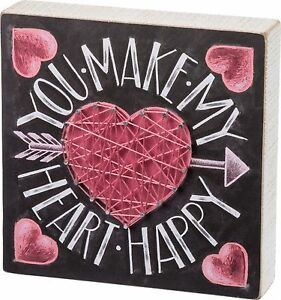 Wood String Art Sign You Make My Heart Happy Love Valentine S Day