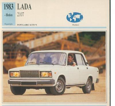 Ausdrucksvoll Typkarte Oldtimer Lada 2107 Farben Sind AuffäLlig